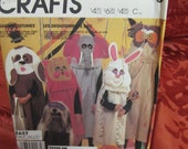 McCall's  2150 Crafts Children's, Boys Girls Animal Costumes Old Fashioned Rabbit Elephant Owl Dog Cat Trick or Treat Bag