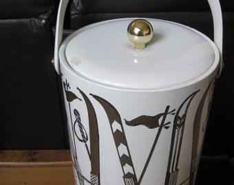 Vintage Plastic Vinyl Ice Bucket