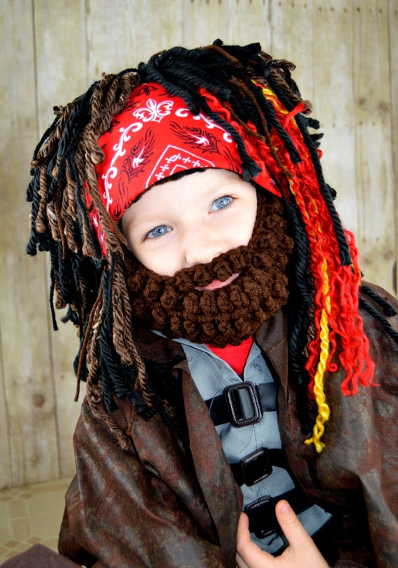 Pirate Wig Boy Halloween Costumes Pirate Headpeice Photo Prop Pirate costume Beanie