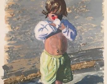 Boy on the Beach -  Giclee'