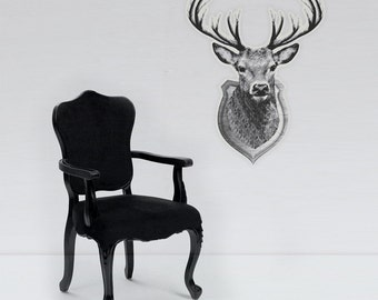 Luminous deer trophy wall-sticker, ONE OF A KIND (glow in the dark hunting trophy wall-sticker)