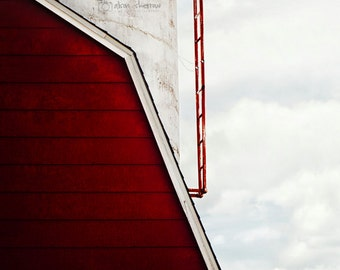 Red Barn Photography, Rustic Country Wall Art, Farmhouse Decor, Farm Decor, Vertical Print | 'Up'
