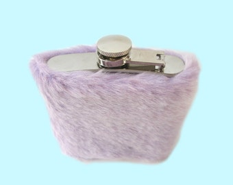 Soft Grunge, Pastel Goth Accessories, Cute Flask, Funny Flask Women, Purple Hip Flask, Kawaii Flask for Women, Flask for Her 21st Birthday
