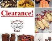 CLEARANCE. Chocolate assortments, new items, baked goods.