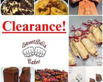 CLEARANCE. Cakepops, Chocolate assortments, new items, baked goods.