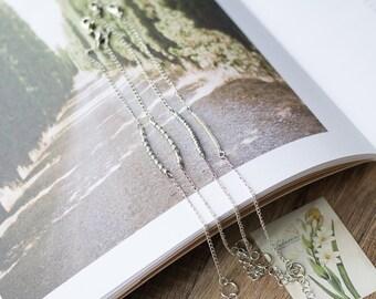 Thin silver bracelet - silver bracelet chain -tiny beaded bracelet - delicate bracelet - stacking layering bracelet - silver jewelry