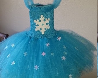 Frozen Inspired Turquoise Elsa or any color Flower Girl Tutu Dress Costume