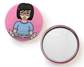 Feminist Tina Fan Art Pocket Mirror