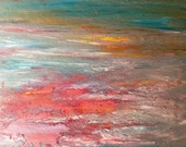 Paper Sunset Original Painting