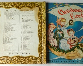 Vintage, CHRISTMAS CAROLS, Little Golden Book, 1946, Wyckoff, Corinne Malvern, Fair Condition