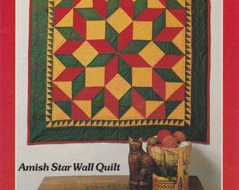 Amish Star Wall Quilt Pattern by Yours Truly - Quilt Lap Throw - Geometric