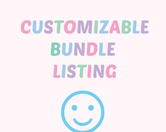 Custom bundle listing for multiple-item orders