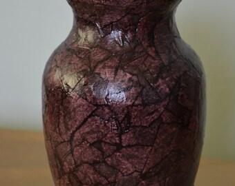 Textured Brown Vase
