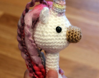 PATTERN Instant Download Sparkle the Unicorn Baby Crochet Rattle Toy