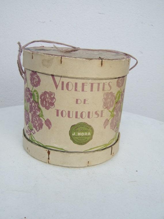 bo te cadeau vintage fran ais violettes de toulouse rare et. Black Bedroom Furniture Sets. Home Design Ideas