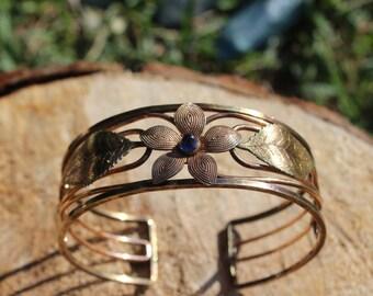 Vintage Krementz Floral Bangle Bracelet