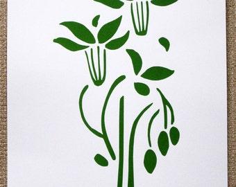 Art Nouveau : Flowers and Fruit - limited edition screenprint