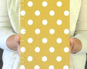 Goldenrod Polka Dot Sketchbook or Journal