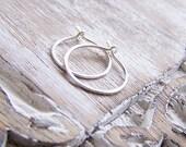 Sterling Silver Hoop Earrings - Silver Hoops - Small Silver Hoops
