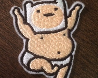 Buff Baby Finn - Iron on Adventure Time Patch