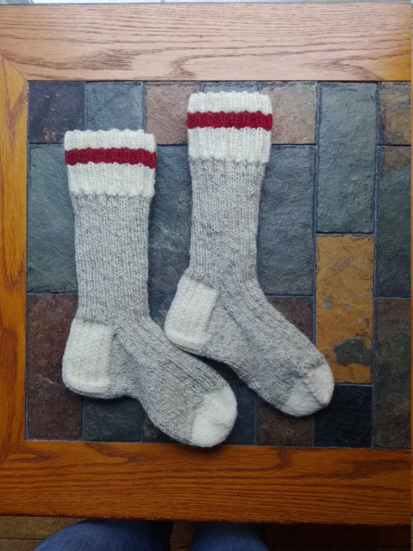 Custom Made Traditional Wool Work Socks Sock Monkey Style