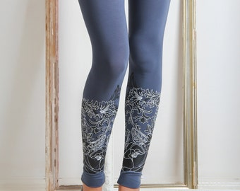 Neo classic -  Printed leggings / womens leggings/ grey leggings