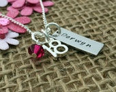 Personalised 18th Birthday Gift, Keepsake Necklace, Personalised Jewellery, Gift for Girls, 18th, 21st, 30th, Personalised Gift for Her