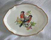 Hammersley Trinket Pin Dish Tray | Bone China Bird Motif | Vintage