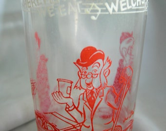 Welshs Howdy Doody Drinking Glass | Copyright 1953 | Vintage
