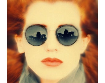Vintage Gatsby Round Sunglasses / Gunmetal P3 Glasses / John Lennon Glasses / Gift Idea / O'Malley Sunglasses for Men Women