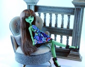 Monster doll handmade fashion doll dress