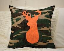Burlap Pillow / Camo Burlap / LIMITED QUANTITIES / Buck Pillow