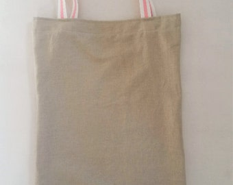 Linen bag, tote bag, linen tote bag, linen tote, beige bag, natural bag, shopping bag, market bag, eco friendly bag, clarashandmade