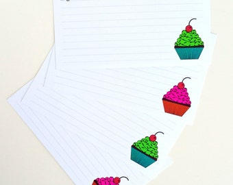 Set of 16 Recipe Cards 3 X 5 Recipe Cards 4 X 6 Recipe Cards Cupcake Recipe Cards Baking Recipe Cards Dessert Recipe Cards Baking Card