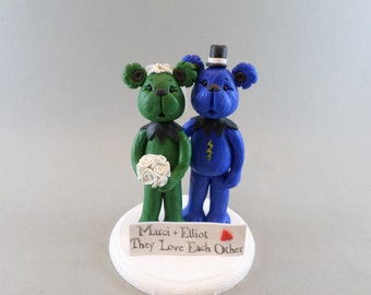 Custom Handmade Bears Wedding Cake Topper