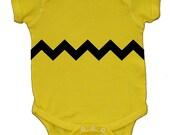 Charlie Brown Baby Bodysuit or Tshirt - Halloween Costume - Baby Shower
