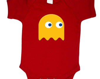 PACMAN GHOST Twins Halloween Costume one piece creeper costumes cute funny bodysuit baby shower baby