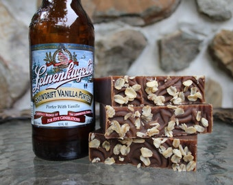 Oatmeal Stout Beer Soap ~ Handcrafted Beer Soap ~ Men's Beer Soap ~ Vegan Recipe