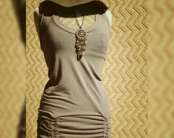Ramblin' Rose Cinched Halter Tunic ~Organic Clothing~