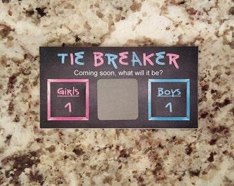 20 Gender Reveal Scratch Off Card Tickets