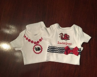 Gamecock Boutique Baby by SewSweetTs on Etsy
