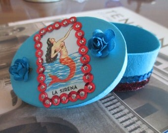 La Sirena Loteria Trinket Box