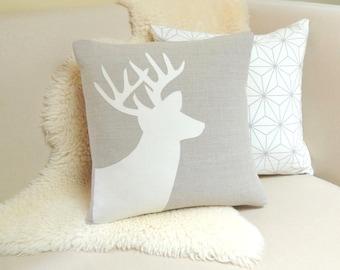 Deer Pillow Cover - Alpine Chic