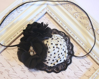 Black and White Headband, Baby Headband, Black Headbands, White Headbands, Lace Headbands, Photography Prop