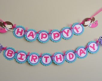 Mermaid Birthday Party Banner Girly Under the Sea