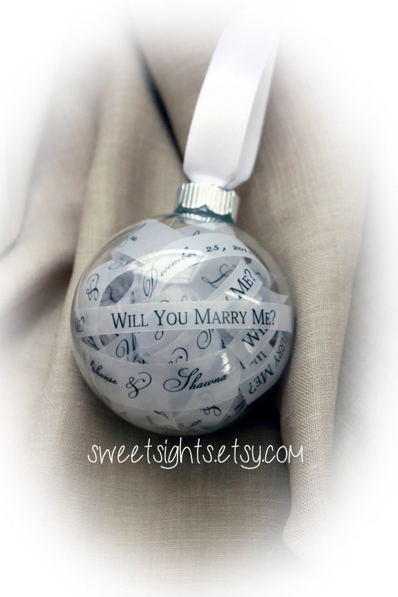 Will You Marry Me Ornament Christmas Proposal Marry Me