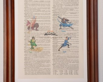 Avatar the Last Airbender Dictionary Art Print