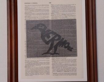 Edgar Allan Poe Dictionary Art Print