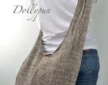 SANDSTONE - Hand Woven Hippie Cotton Hobo Bag Sling Cross body Shoulder Bag Handbag Purse SO104