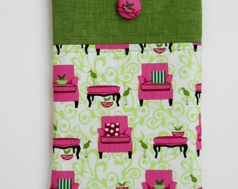 Robert Kaufman Fabric Nook HD Cover / Ipad Mini Cover, Tablet Sleeve, Case